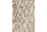 96X120 Rug-Parka Shag Taupe/Chocolate - Signature