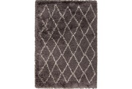 60X96 Rug-Faith Shag Charcoal