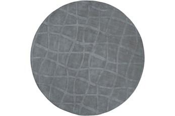 96 Inch Round Rug-Stelvio Grey