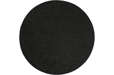 96 Inch Round Rug-Turini Charcoal