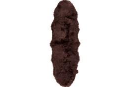 24X36 Rug-Tanza Shag Chocolate