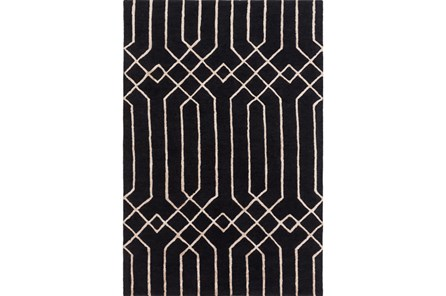 96X120 Rug-Edifice Black - Main