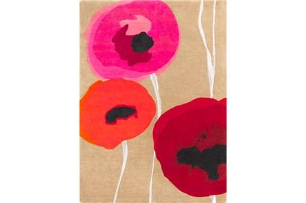 60X96 Rug-Pansy Cherry/Poppy/Pink
