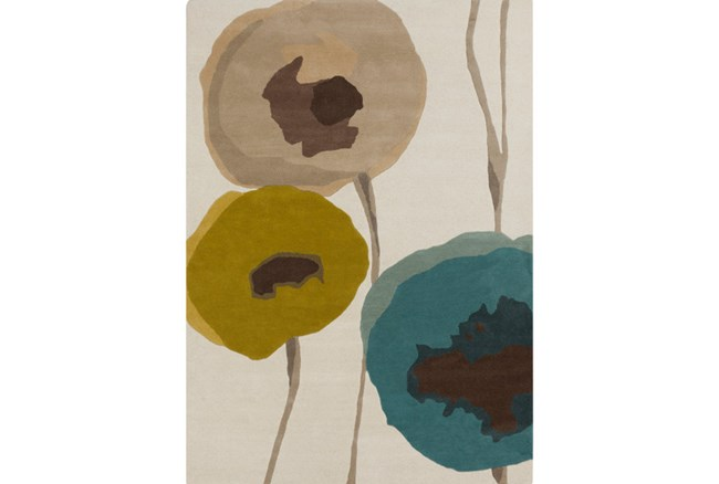 60X96 Rug-Pansy Teal/Olive/Taupe - 360