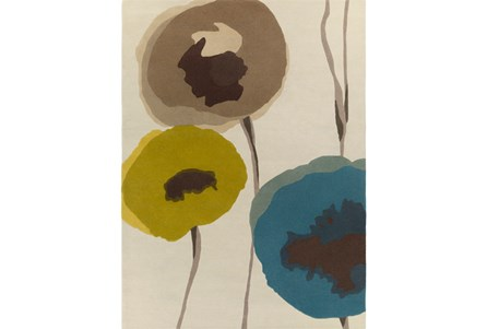 96X132 Rug-Pansy Teal/Olive/Taupe