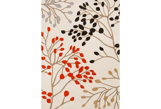 96X132 Rug-Margarita Poppy/Charcoal/Grey/Gold - 360