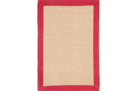 108X156 Rug-Lael Jute Red