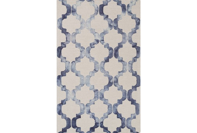 39X63 Rug-Isaiah Light Grey/Cobalt - 360