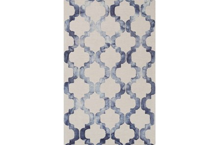 48X72 Rug-Isaiah Light Grey/Cobalt - Main