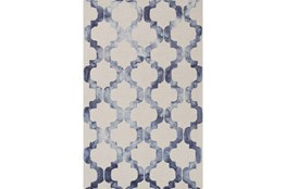 60X90 Rug-Isaiah Light Grey/Cobalt
