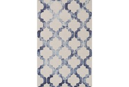 72X108 Rug-Isaiah Light Grey/Cobalt