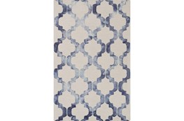 96X120 Rug-Isaiah Light Grey/Cobalt