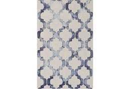 108X156 Rug-Isaiah Light Grey/Cobalt