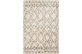60X96 Rug-Araceli Shag Ivory/Charcoal