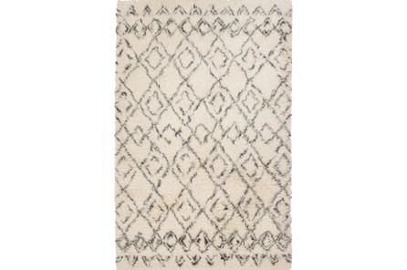 96X120 Rug-Araceli Shag Ivory/Charcoal