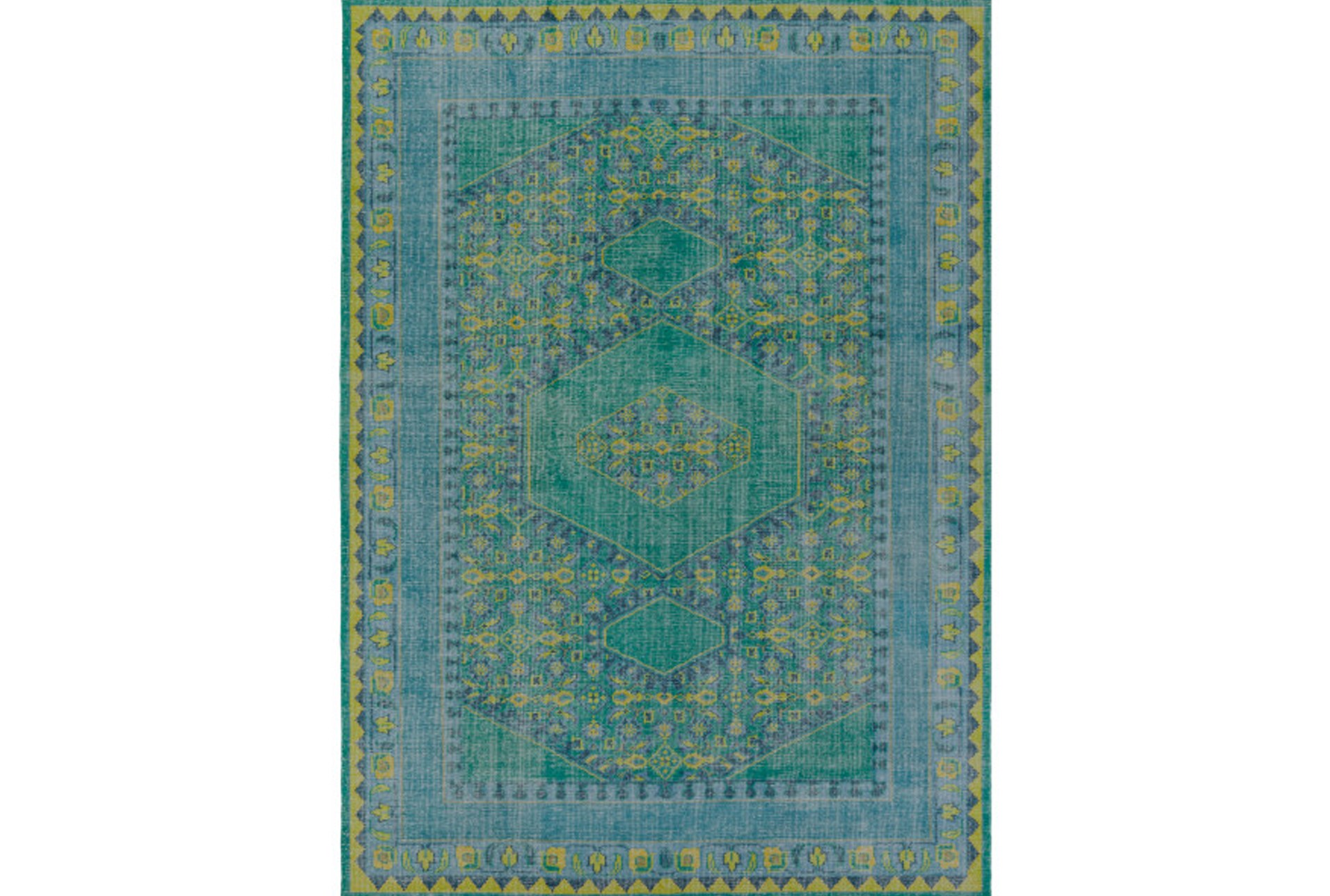 96x132 Rug Fatima Teal Lime Qty 1 Has Been Successfully Added To Your Cart