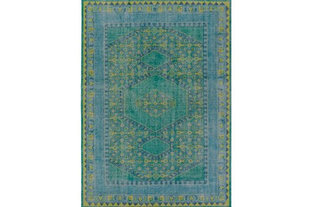 96X132 Rug-Fatima Teal/Lime