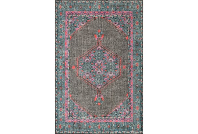 24X36 Rug-Nancy Charcoal/Teal/Pink - 360
