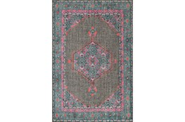 96X132 Rug-Nancy Charcoal/Teal/Pink