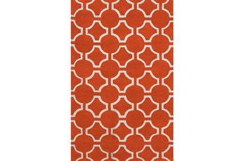 60X96 Rug-Cabot Medallion Orange