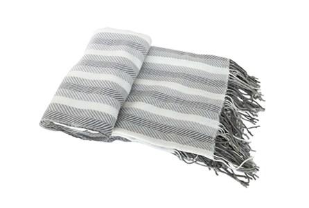 Accent Throw-Cass Stripe Grey