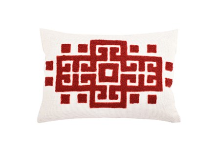 Accent Pillow-Meandros Red 14X20 - Main