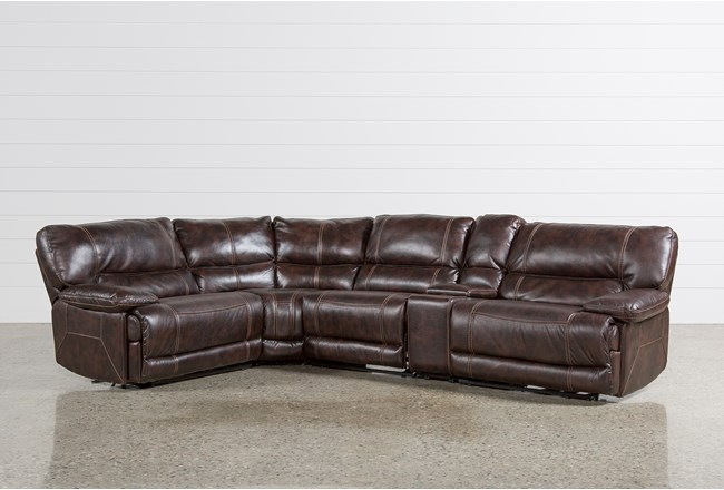 Armless Chairs For Living Room. Marx Nutmeg 5 Piece Power Reclining Sectional W 1 Armless Chair  360