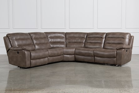 Lachlan 5 Piece Sectional W/Armless Chair & Armless Recliner