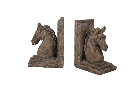 Antique Horse Bookends