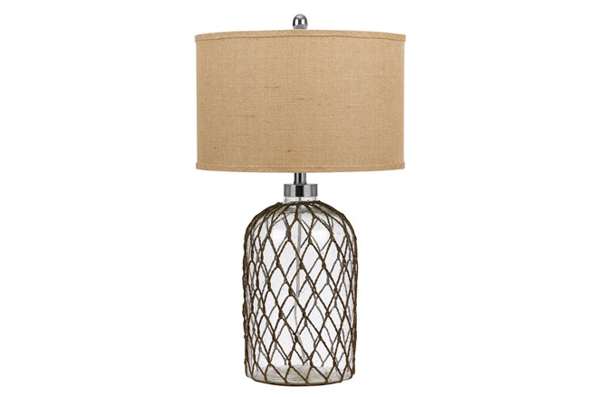 Table Lamp-Jupiter Glass & Wire - 360