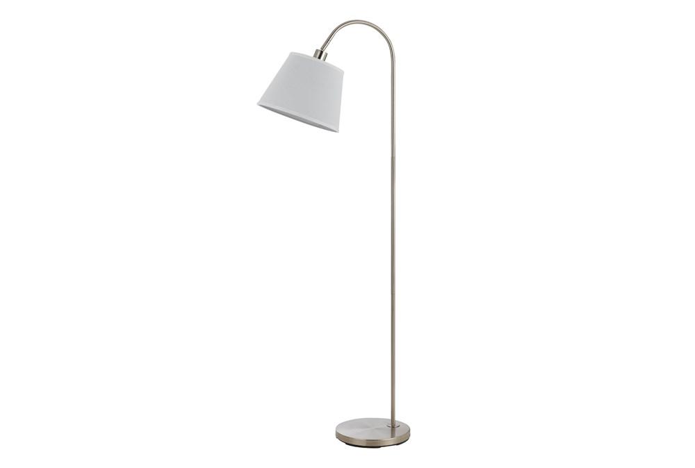 Floor Lamp-Covington Brushed Steel
