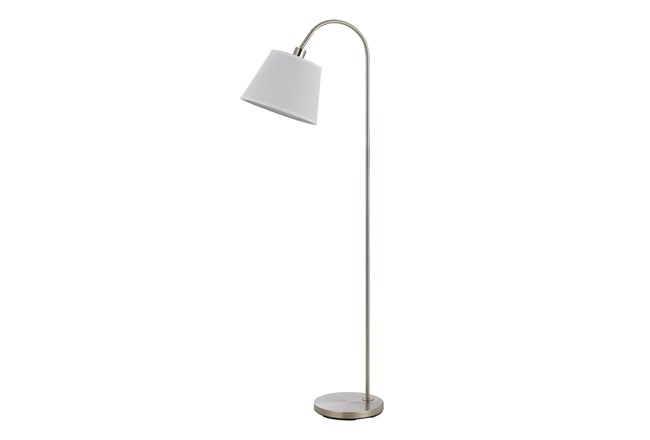 Floor Lamp-Covington Brushed Steel - 360