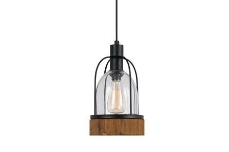 Pendant-Beacon Glass & Wood