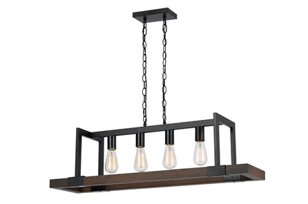 Chandelier-Antonio 4-Light Wood & Metal