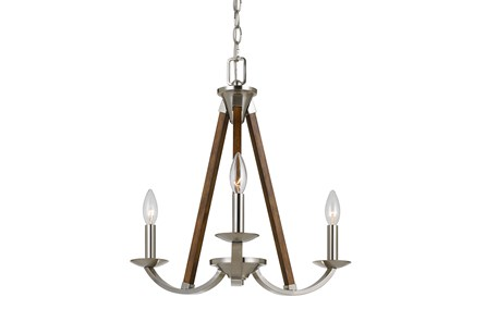 Chandelier-Monica 3-Light Wood & Metal