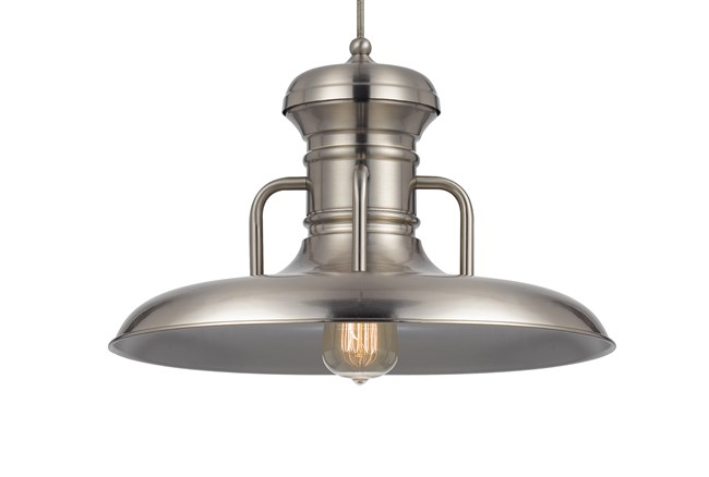 Pendant-Winterset Brushed Steel - 360