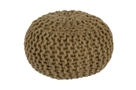 Pouf- Cabled Olive - Main