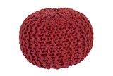 Pouf-Cabled Cherry - Signature