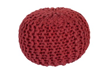 Pouf-Cabled Cherry
