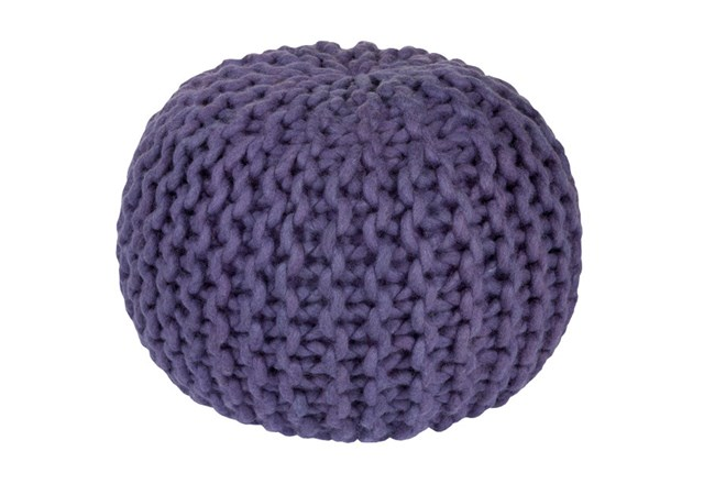 Pouf-Cabled Iris - 360