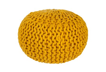 Pouf-Cabled Gold