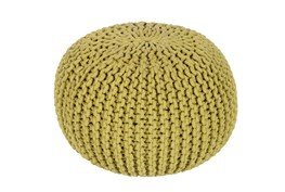 Pouf-Cabled Moss