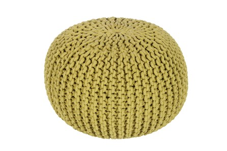 Pouf-Cabled Moss - Main