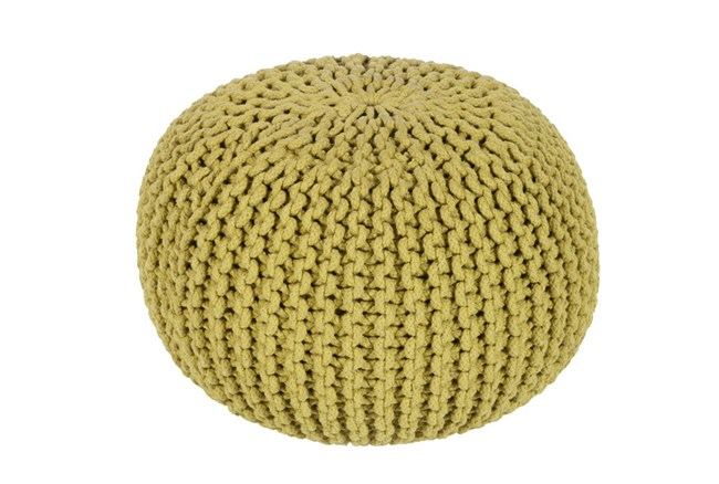 Pouf-Cabled Moss - 360