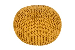 Pouf-Cabled Sunflower