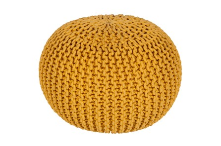 Pouf-Cabled Sunflower - Main