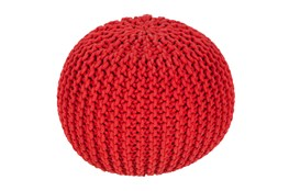 Pouf-Cabled Poppy