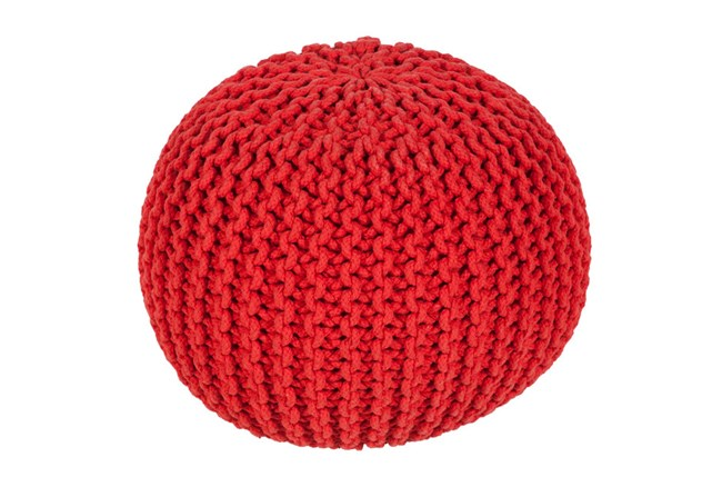 Pouf-Cabled Poppy - 360