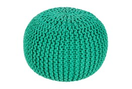Pouf-Cabled Emerald