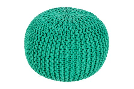 Pouf-Cabled Emerald - Main
